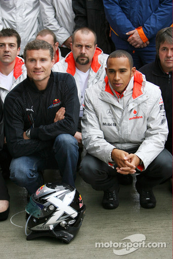 David Coulthard, Red Bull Racing, Lewis Hamilton, McLaren Mercedes, drivers and team members meet to remember Colin McRae