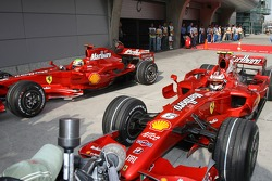 Felipe Massa, Scuderia Ferrari and Kimi Raikkonen, Scuderia Ferrari