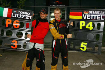Sebastian Vettel, Scuderia Toro Rosso and Vitantonio Liuzzi, Scuderia Toro Rosso finished 4th and 6th respectively