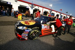 The Bass Pro Shops Chevy is pushed to tech inspection