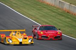 #6 Penske Racing Porsche RS Spyder: Sascha Maassen, Ryan Briscoe, Emmanuel Collard; #62 Risi Competizione Ferrari 430 GT: Mika Salo, Jaime Melo, Johnny Mowlem