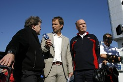 Live television interview of the ARD by Claus Lufen with Norbert Haug, Sporting Director Mercedes-Benz and Dr Wolfgang Ullrich, Audi's Head of Sport