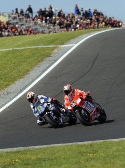 Marco Melandri and Loris Capirossi