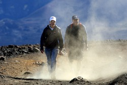 Sebastian Vettel, Scuderia Toro Rosso in Hawai (Haleakala National Park) with Trainer Scott Sanchez