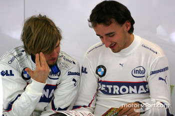 Nick Heidfeld, BMW Sauber F1 Team , Robert Kubica,  BMW Sauber F1 Team