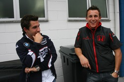Timo Glock, Test Driver, BMW Sauber F1 Team and Christian Klien, Test Driver, Honda Racing F1 Team