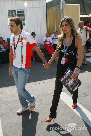 Felipe Massa, Scuderia Ferrari and his girlfriend Rafaela Bassi