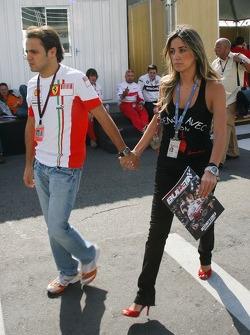 Felipe Massa, Scuderia Ferrari and his girlfriend Rafaela Bassi