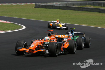 Adrian Sutil, Spyker F1 Team, Rubens Barrichello, Honda Racing F1 Team