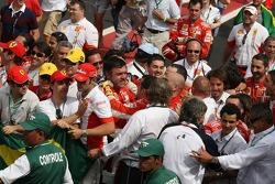 Ferrari team celebrates