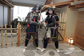 Petter Solberg dressed as a samurai warrior