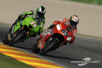 Loris Capirossi and Randy De Puniet