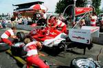 The Penske Crew Practices Pit Stops on Danny Sullivan's Car