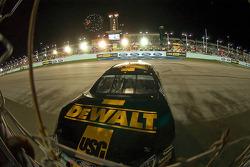 Race winner Matt Kenseth celebrates with a burnout