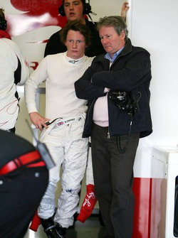 Mike Conway, Test Driver, Honda Racing F1 Team with his father