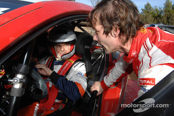 Heikki Kovalainen tests the Citroën WRC of Sébastien Loeb