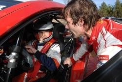 Heikki Kovalainen tests the Citroën WRC of Sébastien Loeb