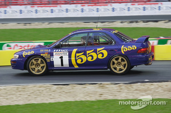Alister McRae in his brother Colin's Subaru Impreza