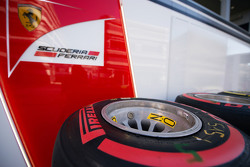 Pirelli tyres for the Ferrari team