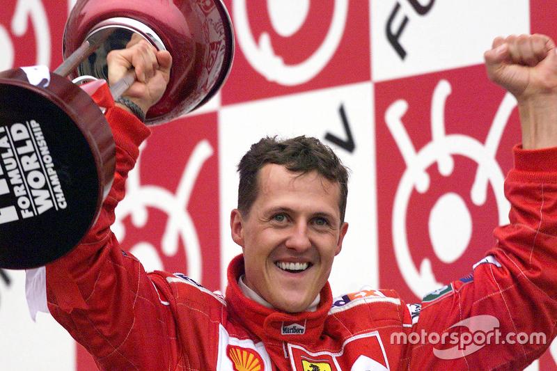 Racewinnaar en 2000 wereldkampioen Michael Schumacher, Ferrari