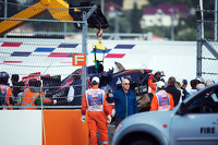 Carlos Sainz's Toro Rosso being recovered