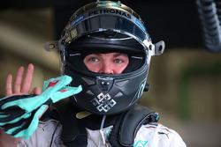Polesitter Nico Rosberg, Mercedes AMG F1