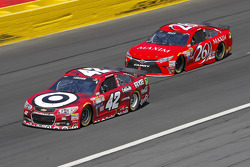 Kyle Larson, Chip Ganassi Racing Chevrolet and Josh Wise, BK Racing Toyota