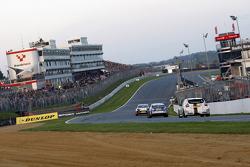 Race three action
