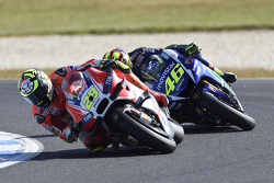 Andrea Iannone, Ducati Team and Valentino Rossi, Yamaha Factory Racing