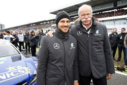 Gary Paffett, ART Grand Prix Mercedes-AMG C63 DTM with Dr. Dieter Zetsche