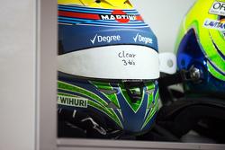 De helm van Felipe Massa, Williams