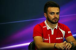 Will Stevens, Manor Marussia F1 Team in the FIA Press Conference