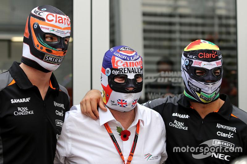 Nico Hulkenberg, Sahara Force India, Nigel Mansell, Sergio éerez, Sahara Force India