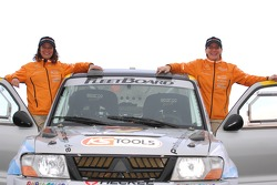 Team Fleetboard Dakar Leipzig presentation: Ellen Lohr and Antonia De Roissard with their Mitsubishi Pajero