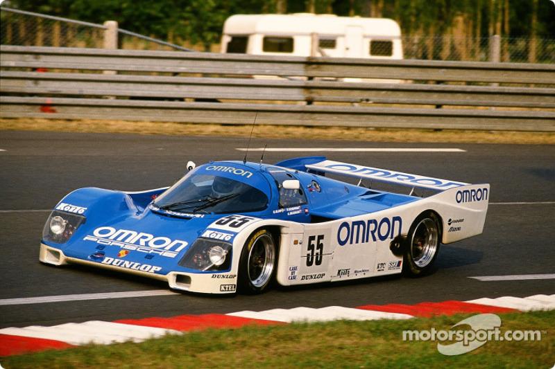 #55 Omron Team Schuppan Porsche 962 C: Vern Schuppan, Eije Elgh, Gary Brabham