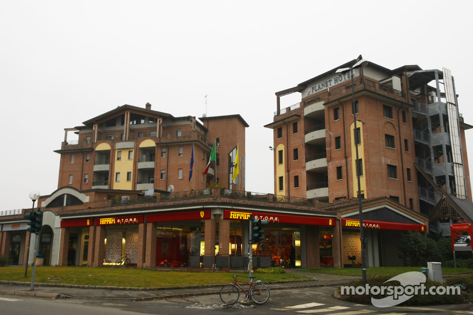 Ferrari store and Planet hotel