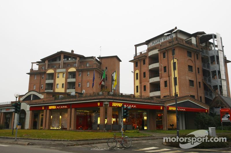 Ferrari store and Planet hotel