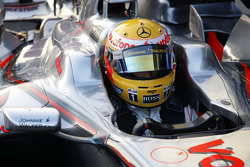 Lewis Hamilton tests the new McLaren Mercedes MP4-23