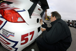 Stevenson Motorsports team member at work