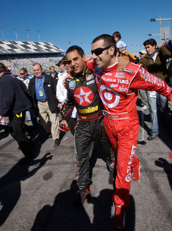 Juan Pablo Montoya and Dario Franchitti heads to victory lane