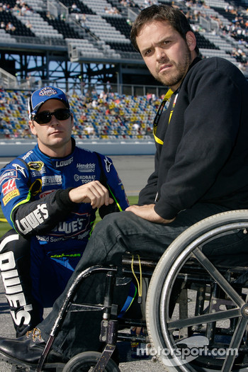 Jimmie Johnson and Bootie Barker discuss