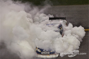 Race winner Dale Earnhardt Jr. celebrates