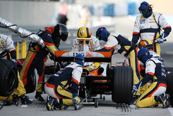 Nelson A. Piquet, Renault F1 Team, practice pitstops