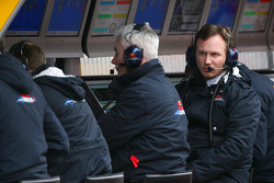 Geoff Willis, Red Bull Racing, Technical Director and Christian Horner, Red Bull Racing, Sporting Director