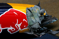 Red Bull Racing damaged nose use for practice pitstop