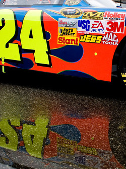 Jeff Gordon's 24 car waits in line for inspection