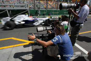 Robert Kubica,  BMW Sauber F1 Team is passing the photographers