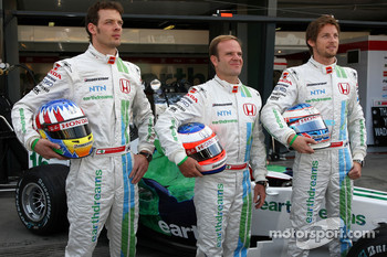 Alexander Wurz, Test Driver, Honda Racing F1 Team, Rubens Barrichello, Honda Racing F1 Team, Jenson Button, Honda Racing F1 Team