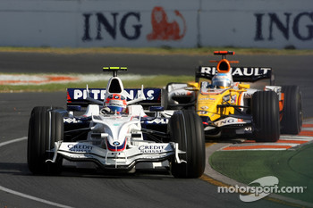 Robert Kubica,  BMW Sauber F1 Team, Fernando Alonso, Renault F1 Team