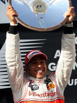 Winner, 1st, Lewis Hamilton, McLaren Mercedes